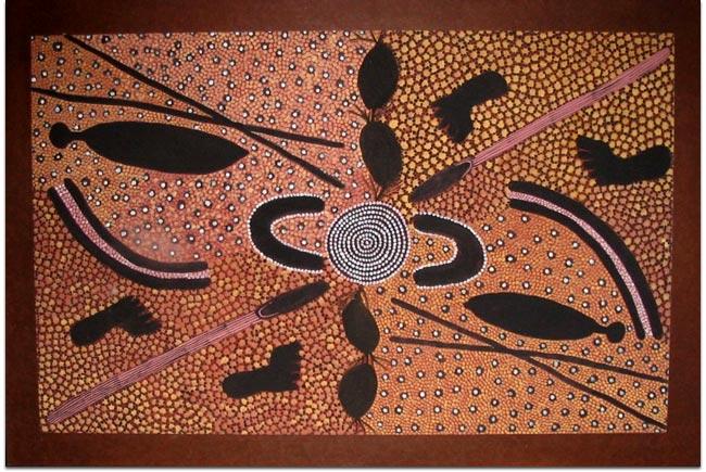 Painting by Kaapa Tjampitjimpa