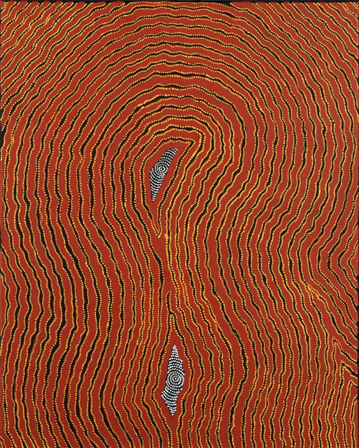 Painting by Maureen Nampajimpa